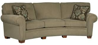 Broyhill Furniture Miller Casual Conversation Sofa w Rolled Arms