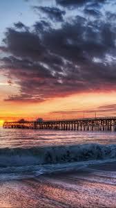 California Beach Dock Sunset IPhone 6 Plus HD Wallpaper