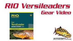 rio verisleader sinking tip fly fishing leader video youtube