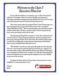 Chair 5 Restaurant Girdwood Alaska by Beverage List