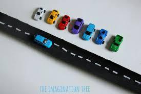 Cardboard Tube Racing Car Tracks Game For Kids