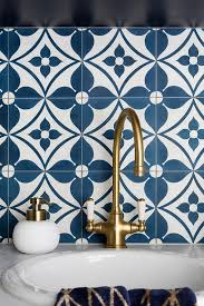 white and blue mosaic laundry room tiles contemporary laundry room