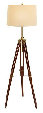 wood tripod floor l with burlap shade tripod floor l and