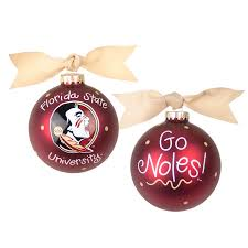 Christmas Ornament With Florida State University Seminole Head