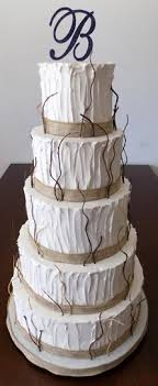 5 Tier Rustic Themed Wedding Cakes Windsor PA