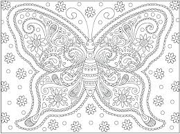 Butterflies Coloring Pages Free Butterfly Page Monarch Colouring For Toddlers