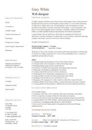 Web Developer Resumes Resume Examples On Example Of A