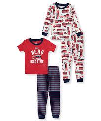 Amazon.com: Carter's Boys' 12M-10 4-Pc. Firetruck Pajama Set: Clothing