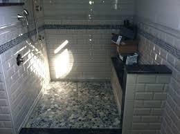 pebble tile for shower floor sliced pebble tile pebble tile
