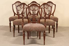 Set Of 6 Hepplewhite Design 1940's Vintage Dining Chairs 4 Hepplewhite Style Mahogany Yellow Floral Upholstered Ding Chairs Style Ding Table And Chairs Pair George Iii Mahogany Armchairs Antique Set Of 8 English Georgian 12 19th Century Elegant Mellow Edwardian Design Antiques World 79 Off Wood Hogan Side Chair Eight Late 18th Of