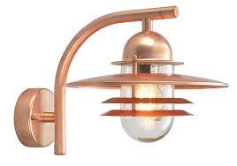 norlys oslo deco style copper garden outdoor wall light os2