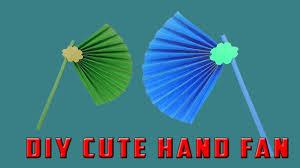 DIY Cute Hand Fan Paper Making Easy Tutorial