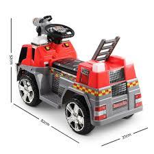100 Fire Truck Ride On Rigo Kids Car Red Grey