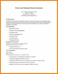 Resume Summary Examples Entry Level Job 18 Buiness Managment Sample And Samples For Students Resumes College