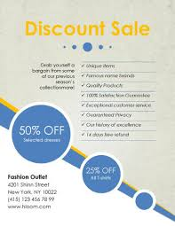 Discount Sale Flyer Template