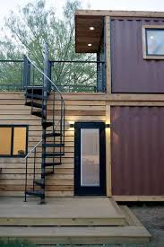 100 Container Shipping Houses Stacked Twostory Shipping Container Home Has Roof Terrace