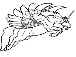 Pegasus Coloring Pages Picture Of Page Cute Baby