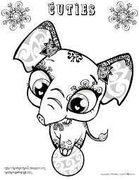 Cuties Coloring Pages