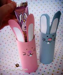 DIY Easter Bunny Candy Holder Craft Perfect To Make With Kids LivingLocurto All You Need Are Toilet Paper Rolls