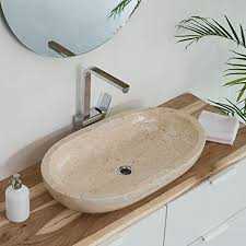 wohnfreuden marmor waschbecken mara 70 cm in creme