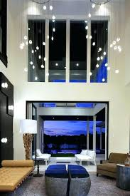 Modern Chandeliers For High Ceilings Lighting Living Room With Area Rug Art