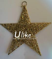 Glitter Star Decorations Metal Lighted Shape Outdoor And Moon Decoration Party