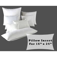 Pillow Form Insert Polyester Fiber Fill for 16x24 Pillow Covers