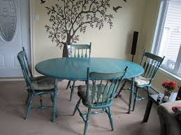 Roxton Wood Dining Room Set Stained Green On Kijiji Montreal