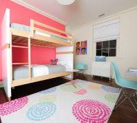 Tropical Themed Area Rugs Kids Modern With Icons White Wood Bunk Beds