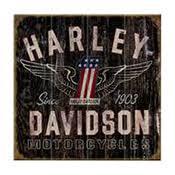 CLOCKS Harley Davidson Signs And Wall Art