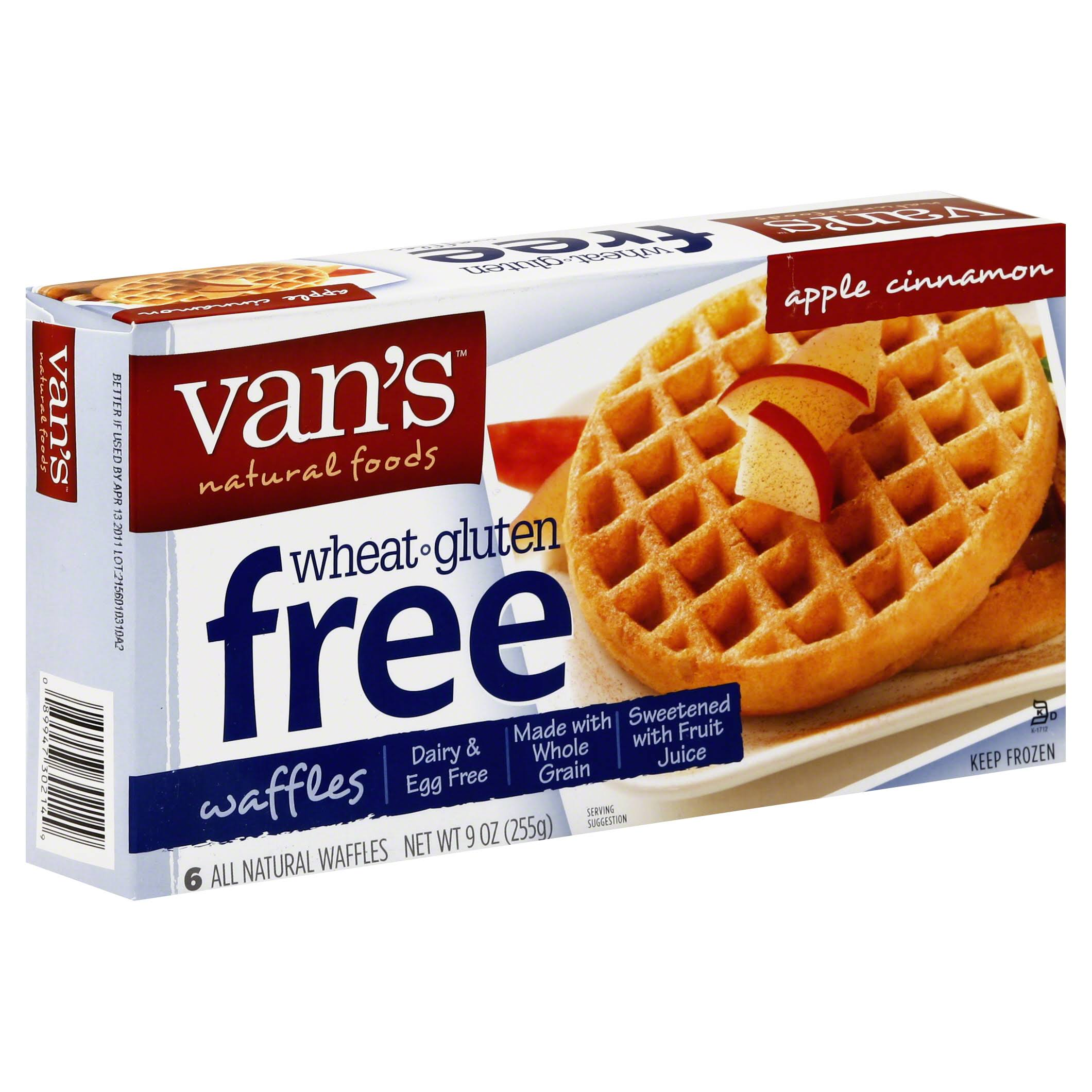 Van's Gluten Free Whole Grain Brown Rice Waffles - Apple Cinnamon, 9oz