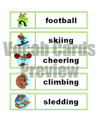 My Set Of Sports Word Wall Vocabulary Cards Now Has Its Own And Also Been Freshened Up Recently This Includes 24 With Hip