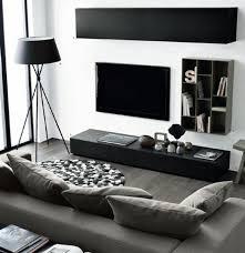 canapé gris design un salon en gris et blanc c est chic voilà 82 photos qui en témoignent