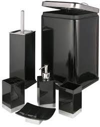 badezimmer set 6 tlg bad garnitur eimer wc bürste neu