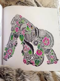 Animal Kingdom Colouring Book Gorilla Best Images About Millie Marotta Simios On