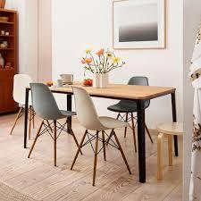 vitra aktionsset eames plastic side chair dsw 4 er set ahorn gelblich weiß filzgleiter weiß