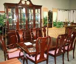 Thomasville Dining Room Set Table And Chairs Remarkable Cherry