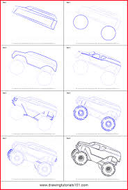100 Monster Truck Drawing How To Draw A Step By Step 15330 How To Draw A