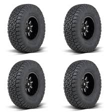 100 4x4 Truck Rims 4x AMP 27560R20LT Pro AT SUV Radial Tires AS E 10Ply