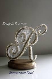 Letter Cake Topper Wedding Monogram R Pearl By ButtercreamPearl