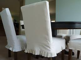 Image Of White Dining Room Chair Slipcovers