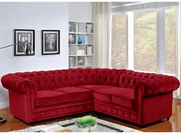 canap chesterfield angle d angle en velours chesterfield