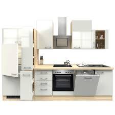 küchenblock abaco perlmutt akazie mit e geräten 310 cm