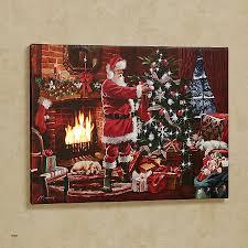 Fireside Santa Canvas Wall Art Multi Warm To Expand