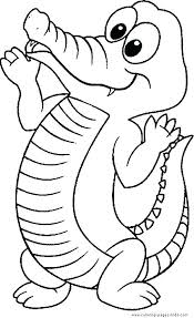 Full Image For Zoo Animal Coloring Pages Pdf Animals Book Crocodile