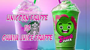 LIMITED TIME STARBUCKS GUAVA JUICE FRAPPUCCINONot Dragon Frappe VS UNICORN FRAPPUCCINO DIY