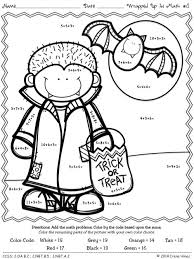 Halloween Coloring Sheets For 3rd Graders Color By The Number Code Wrapped Up In Math