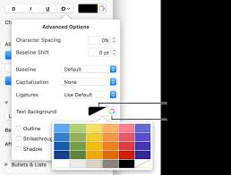 Controls For Choosing A Background Color Text