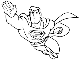 Free Superhero Colouring Pages 18 Simple Coloring Printable Color