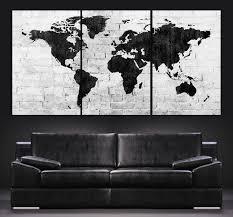 Large Wall Art World Map Canvas Print